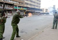 KENYAN POLICE ACCUSED OF KILLING PROTESTERS