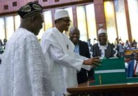 PRESIDENT BUHARI PRESENT 2018 BUDGET TO PARLIAMENT