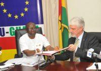 EU GIVES GHANA A GRANT WORTH €175 MILLION.