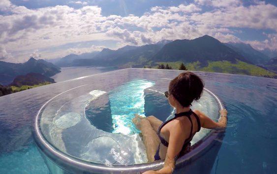 villa honegg hotel and pool switzerland. Black Bedroom Furniture Sets. Home Design Ideas