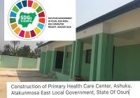 SDGs PARTNER WITH OSUN GOVERNMENT TO BUILD PRIMARY HEALTHCARE CENTRES IN NIGERIA