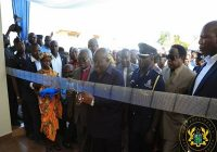 GHANA PRESIDENT COMMISSION NEWLY CONSTRUCTED POLICE BUILDING
