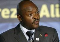 PRESIDENT OF BURUNDI PLANS TO STEP DOWN COME 2020 ELECTIONS.