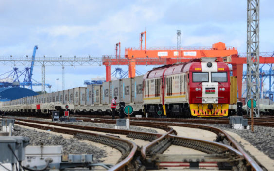 Cargo trains in Kenya