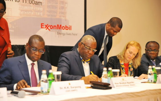 Exxon Mobil signs agreement to begin Oil exploration in Ghana