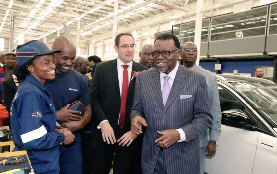 PRESIDENT HAGE LAUNCHES PEUGEOT OPEL ASSEMBLY NAMIBIA