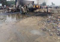 TANK EXPLOSION AT OJO BARRACK IN BADAGRY EXPRESSWAY ROAD