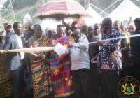 GHANA PRESIDENT RE-OPENS OBUASI GOLD MINE