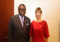 NAMIBIA's PRESIDENT DISCUSS E-GOVERNANCE WITH ESTONIA PRESIDENT