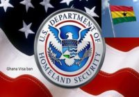 U.S GOVERNMENT ISSUES VISA BAN ON GHANA
