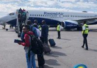 RWANDA AIRLINE ARRIVES KINSHASA, CONGO