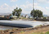 FIBERTEX GEOTEXTILE BAGS DESLUDGING WASTE WATER