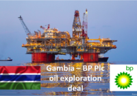 GAMBIA SIGNS OIL EXPLORATION DEAL WITH BP Plc