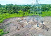 CONSTRUCTION OF HIGH VOLTAGE POWER LINE ON TRACK IN UGANDA