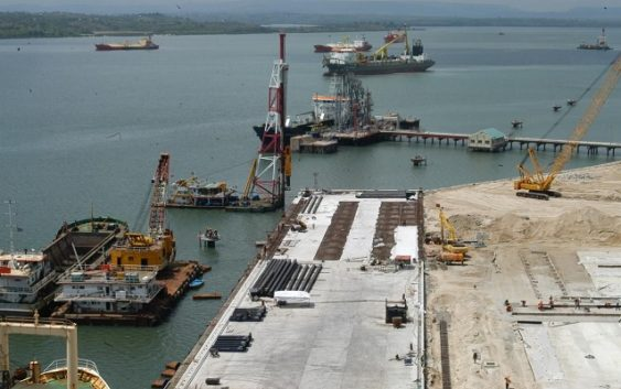 Lamu port first berth completed
