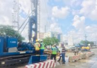 PILE LOAD TESTING ONGOING FOR GARRISON FLYOVER