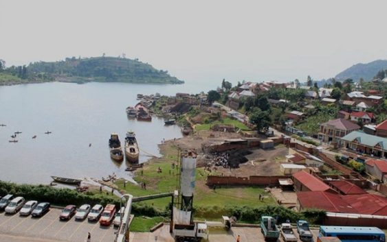 Port construction at Lake kivu