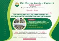 [SPONSORED] 2019 ENGINEERING WEEK/NIGERIAN CONTENT DAY