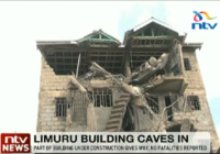 BUILDING UNDER CONSTRUCTION COLLAPSE IN LIMURU, KENYA