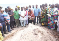 GHANA PRESIDENT VISIT CONSTRUCTION PROJECT AT ADENTAN MUNICIPALITY