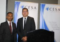 NEW CESA PRESIDENT CALLS FOR ENGINEER-GENERAL TO OVERSEE PROJECT IN SOUTH AFRICA