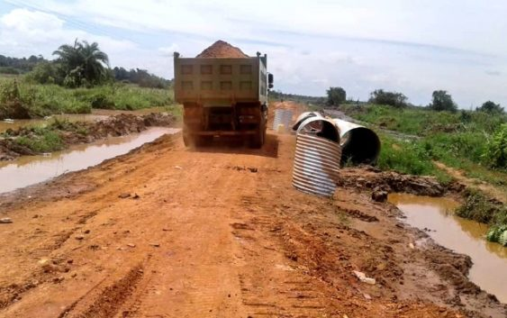 Kyapa-Kasensero road repair