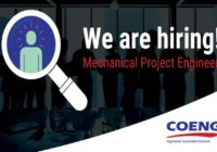 MECHANICAL PROJECT ENGINEER AT COENG, SOUTH AFRICA