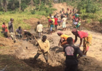 RESIDENTS BUILD ROAD AFTER LACK OF GOVERNMENT INTERVENTION IN LIBERIA