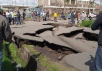 Nakuru road collapsed