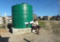 WATER TANK RUNNING DRY IN MOTHERWELL, SOUTH AFRICA