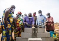 GHANA PRESIDENT LAY FOUNDATION FOR FOUNDRY/MACHINE CENTRE CONSTRUCTION