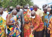 GHANA PRESIDENT CUT SOD FOR FIVE DISTRICTS WATER SCHEMES