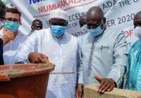 GAMBIA PRESIDENT LAY FOUNDATION FOR 88KM HAKALANG ROAD CONSTRUCTION