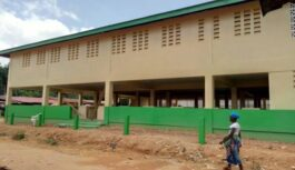 CONTRACTOR HANDOVER COMPLETED PLEEBO DISTRICT MODERN MARKET IN LIBERIA