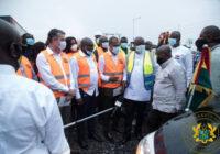 GHANA PRESIDENT CUT SOD FOR TEMA-AFLAO ROAD PROJECT