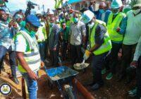 SIERRA LEONE PRESIDENT CUT SOD FOR MAJOR ROAD PROJECT IN GODERICH-FUNKIA COMMUNITY