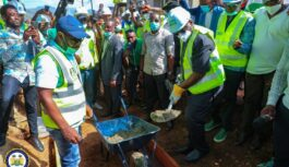 SIERRA LEONE PRESIDENT CUT SOD FOR MAJOR ROAD PROJECT IN GODERICH-FUNKIA COMMUNITY