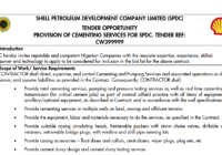 PROVISION OF CEMENTING SERVICES FOR SPDC