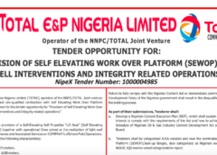 PROVISION OF SELF ELEVATING WORK OVER PLATFORM (SEWOP) FOR WELL INTERVENTIONS AND INTEGRITY RELATED OPERATIONS