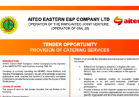 TENDER OPPORTUNITY PROVISION OF CATERING SERVICES