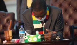 ZIMBABWE'S PRESIDENT LAMENTS OVER U.S. ECONOMIC SANCTIONS