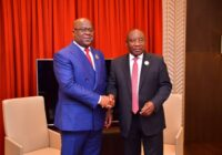 SOUTH AFRICA'S CYRIL RAMAPHOSA HANDSOVER AFRICAN UNION CHAIRPERSON TO PRESIDENT OF DR CONGO