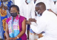TOGOLESE PRIME MINISTER, VICTOIRE DOGBE GETS VACCINATED
