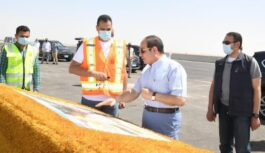 PRESIDENT EL-SISI INSPECTS THE WIDEST ROAD IN THE MIDDLE EAST